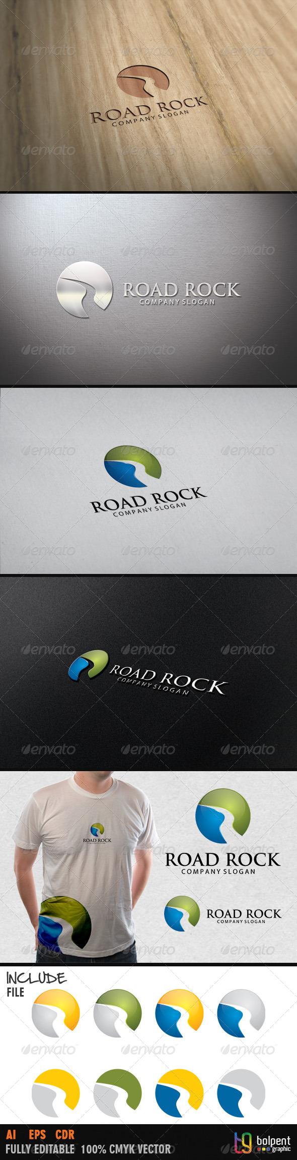 GraphicRiver Road Rock Logo Template 4021829