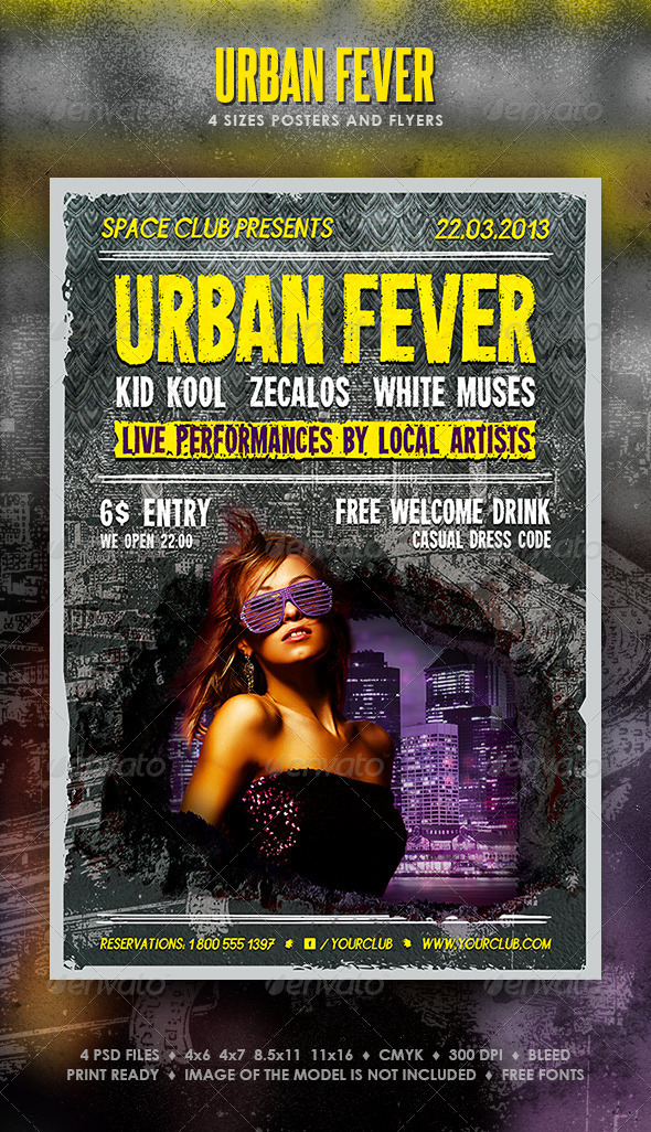 Urban Fever Posters and Flyers