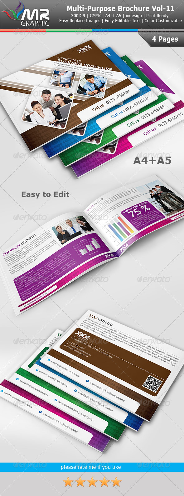 GraphicRiver Multipurpose Business Brochure Template Vol-11 4077216