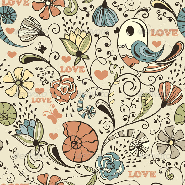 GraphicRiver Vector Seamless Spring Pattern 4077221