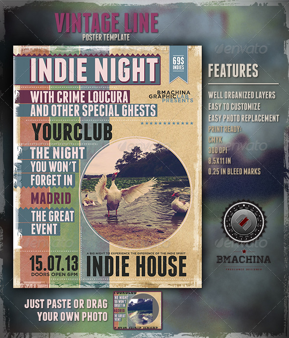 Indie Poster Template - Concerts Events