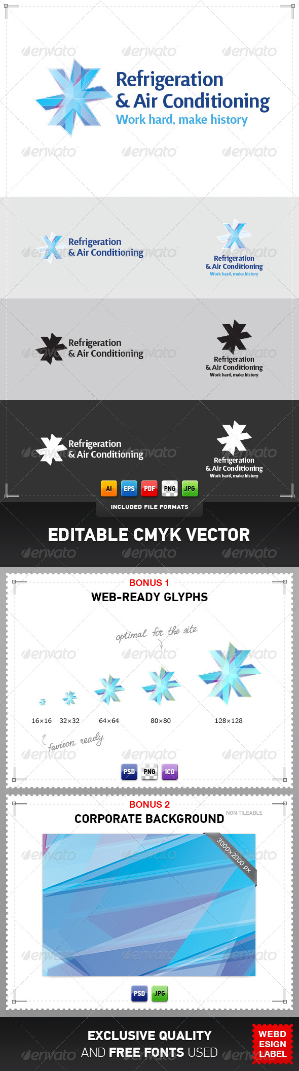 GraphicRiver Refrigeration & Air Conditioning Logo 4077466