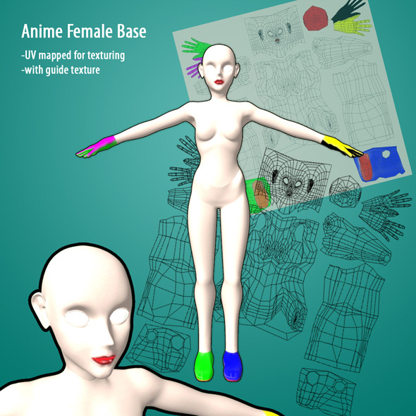 3DOcean Anime Female Base 4077516