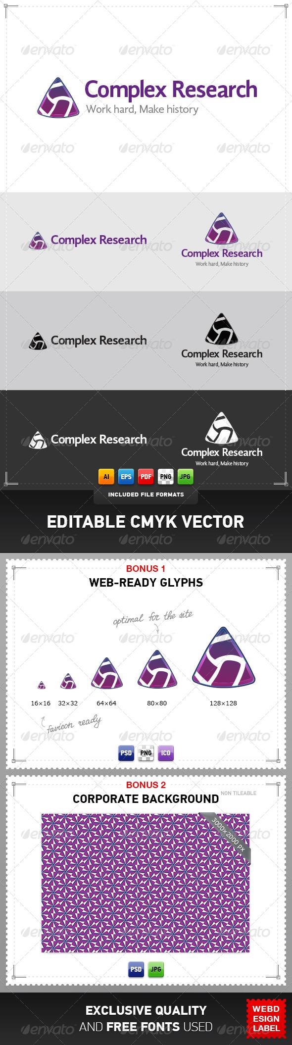 GraphicRiver Complex Research Logo 4078078