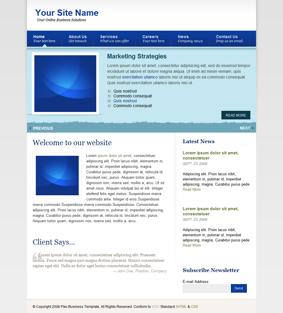 Blue Business Template -