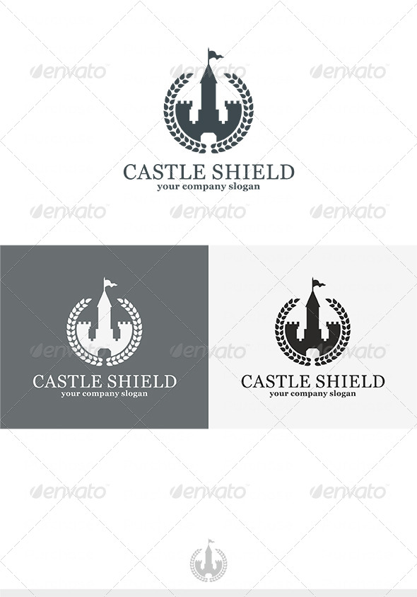 Castle Shield Logo - Crests Logo Templates