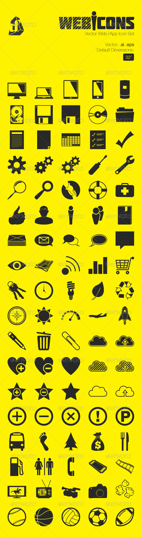 GraphicRiver Vector Web and App Icon Set 4025800
