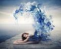 Blue Painted Ballerina