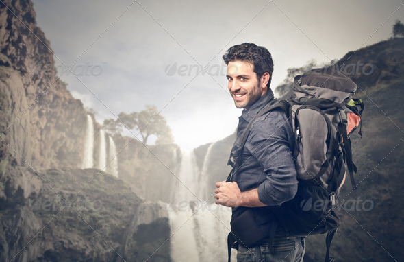 Exploring Man - Stock Photo - Images