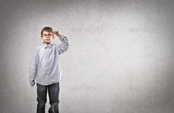 Child Writing - Stock Photo - Images