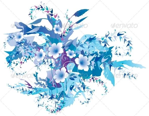 GraphicRiver Delicate Frozen Floral 4079302
