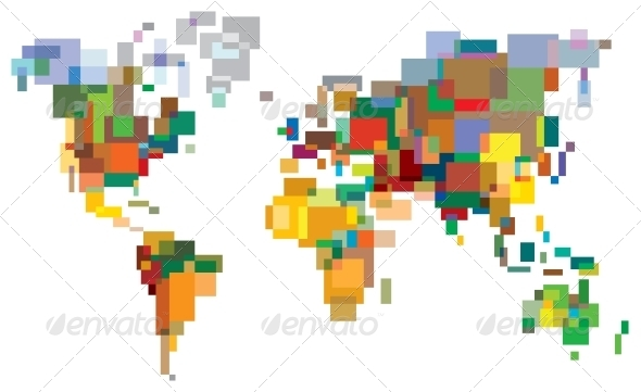 GraphicRiver Many-Colored World 4079563