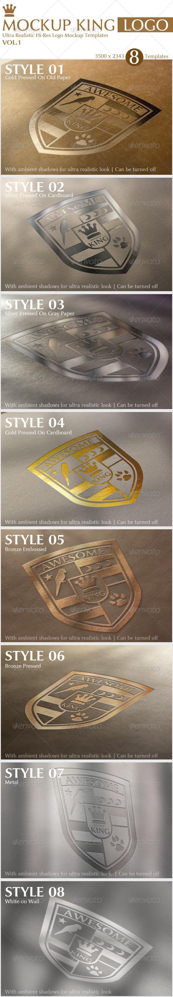 GraphicRiver Mockup King Ultra Realistic Logo Mockup Templates 4079592