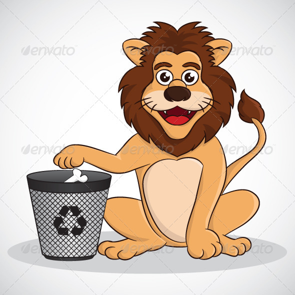 GraphicRiver Recycle Lion 4079644