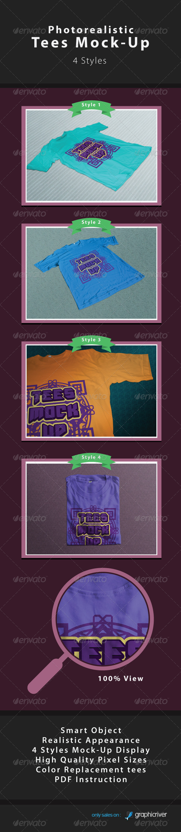 GraphicRiver Photo Realistic Tees Moc 4079842