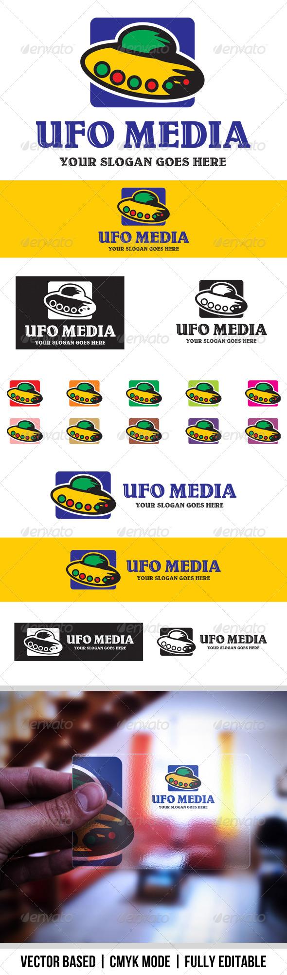 Ufo Media logo - Symbols Logo Templates