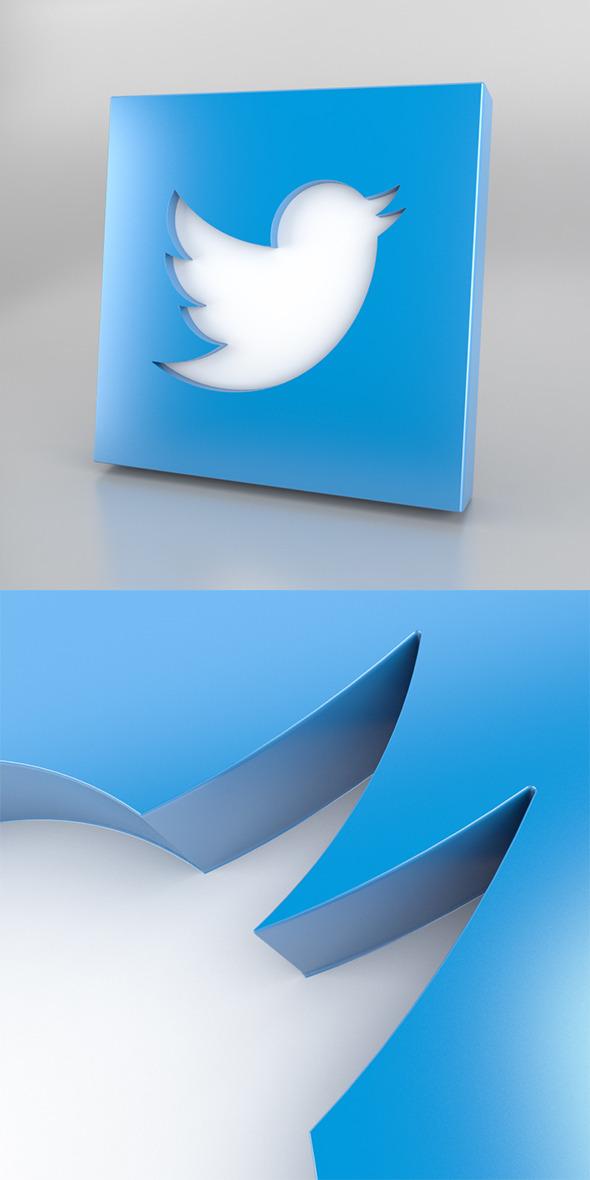 3DOcean Twitter Icon Logo 4079882