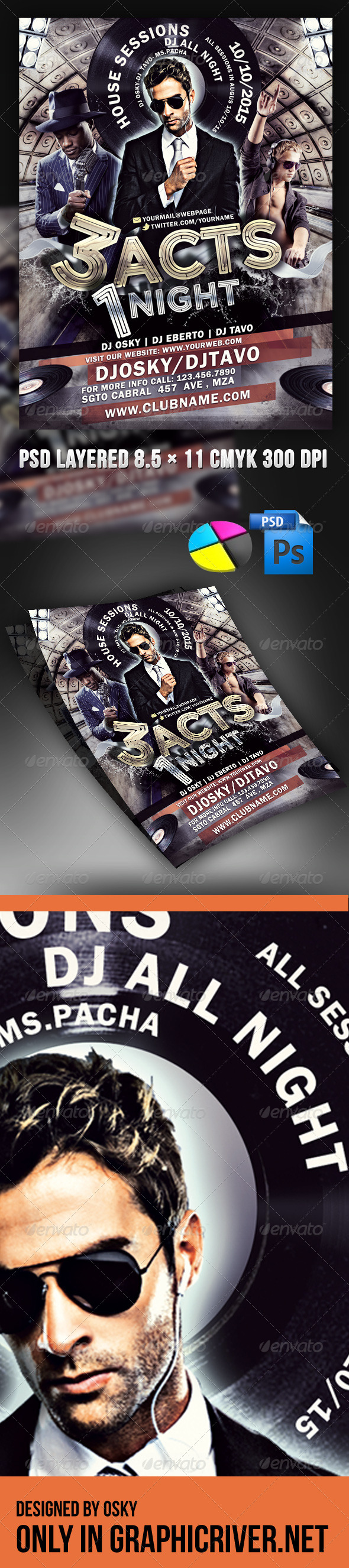 GraphicRiver 3 Acts 1 Night Party 4079911