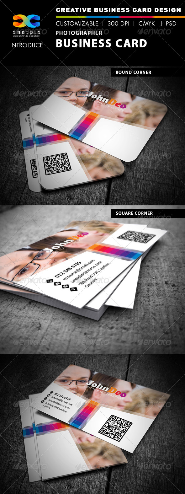 GraphicRiver Photographer Business Card 4079998