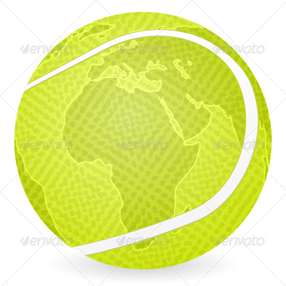 GraphicRiver world map tennis ball 4080007