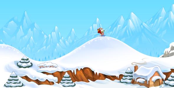 CodeCanyon Tiny Santa Skiing 4056355