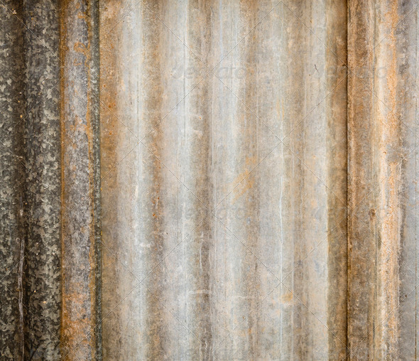 Corrugated Iron - Stock Photo - Images