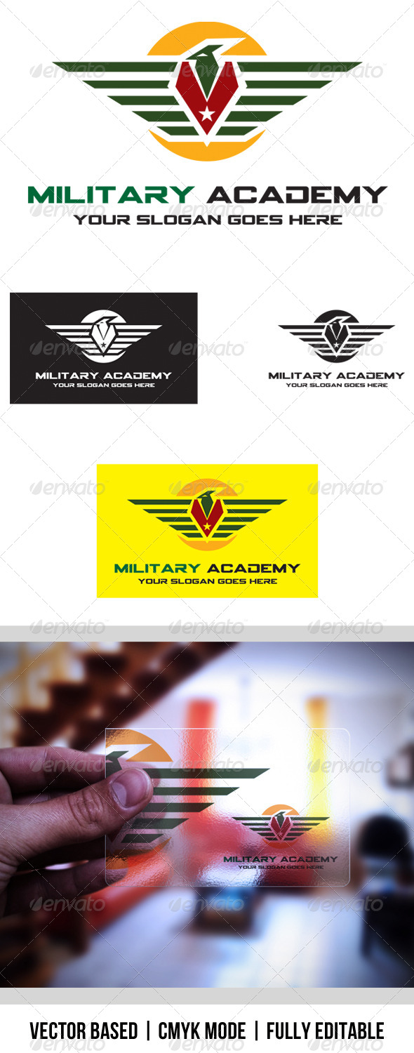 GraphicRiver Military Academy logo 3959357