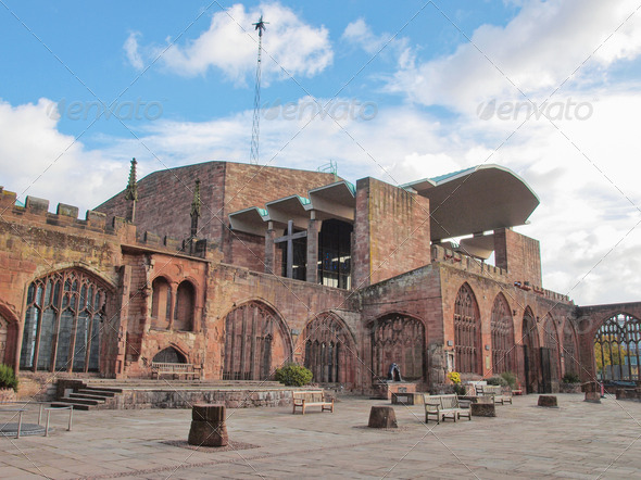 PhotoDune Coventry Cathedral ruins 4081975