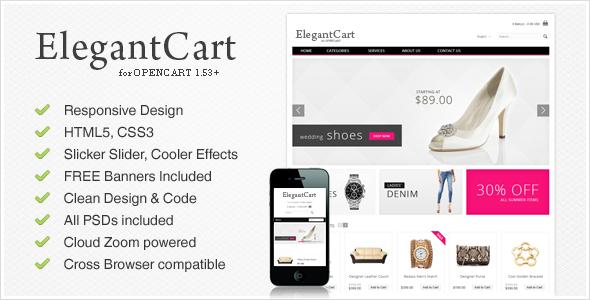 ElegantCart - стильная тема для OpenCart