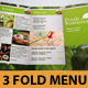 Fresh Food Menu Template Tri-Fold - GraphicRiver Item for Sale