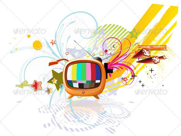 GraphicRiver Retro TV 4081572
