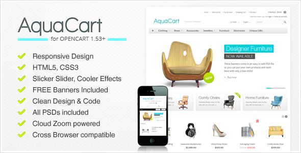 AquaCart - a Premium Responsive OpenCart Template - OpenCart eCommerce