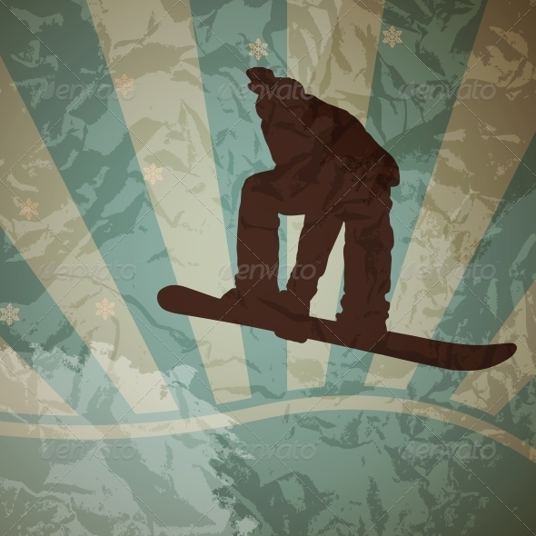 GraphicRiver Snowboarding Vector 4081886