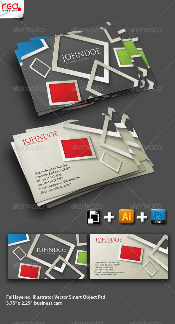 GraphicRiver Modern Stylish Business Card Set 4082208