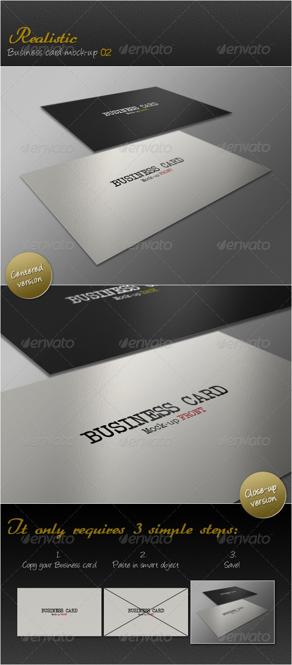 GraphicRiver Realistic Business Card Mock-up Vol.02 3917821