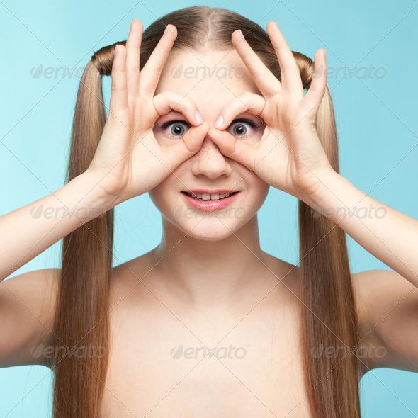PhotoDune Playful freckled girl 4082551