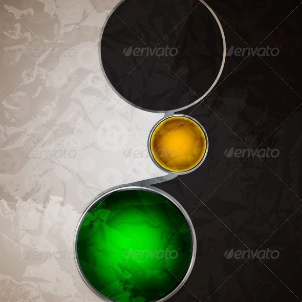 GraphicRiver Abstract Background with Glass Balls as Vector 4082548