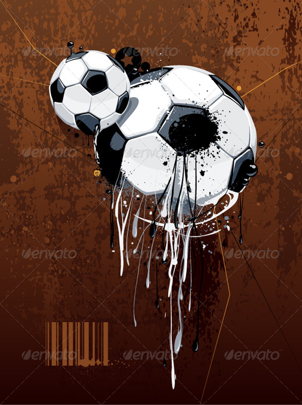 GraphicRiver Abstract Image of Soccer Balls 4082753