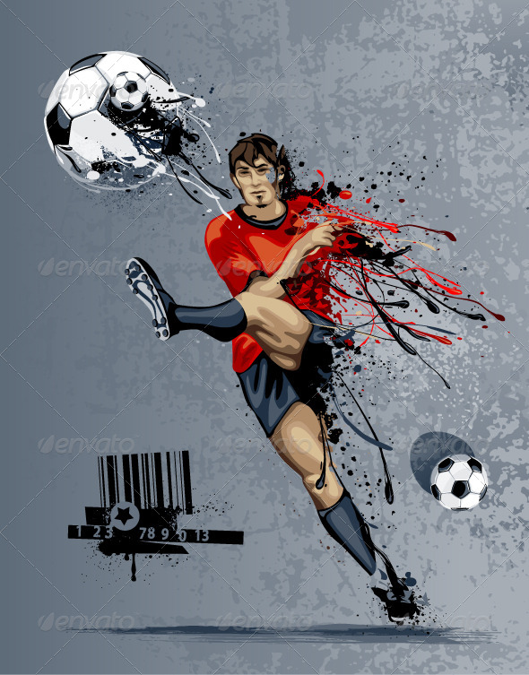 GraphicRiver Abstract Soccer Player 4082827
