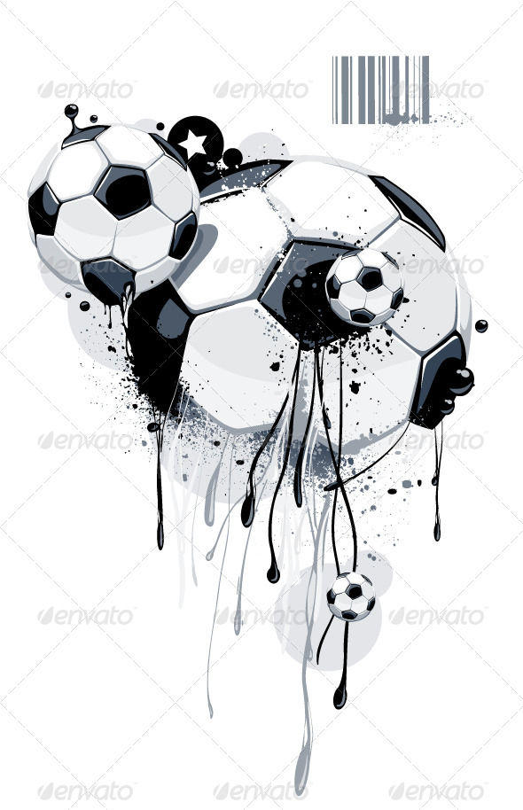 GraphicRiver Abstract Image of Soccer Balls 4082844