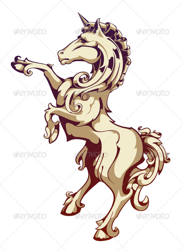 GraphicRiver Vintage Horse 4083118