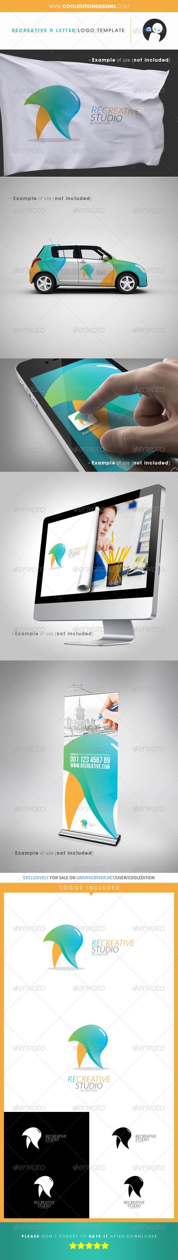 GraphicRiver Recreative R Letter Logo Template 3789483