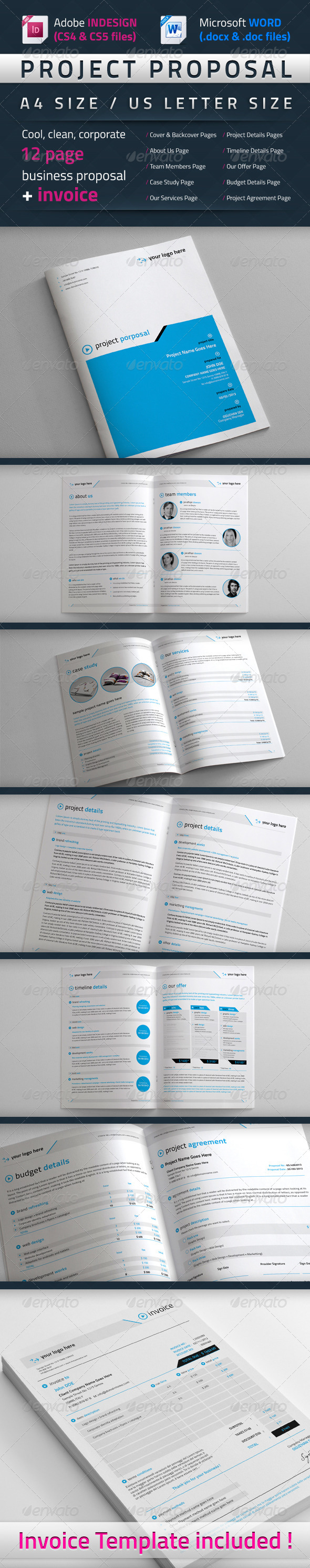 GraphicRiver Project Proposal Template 4083184