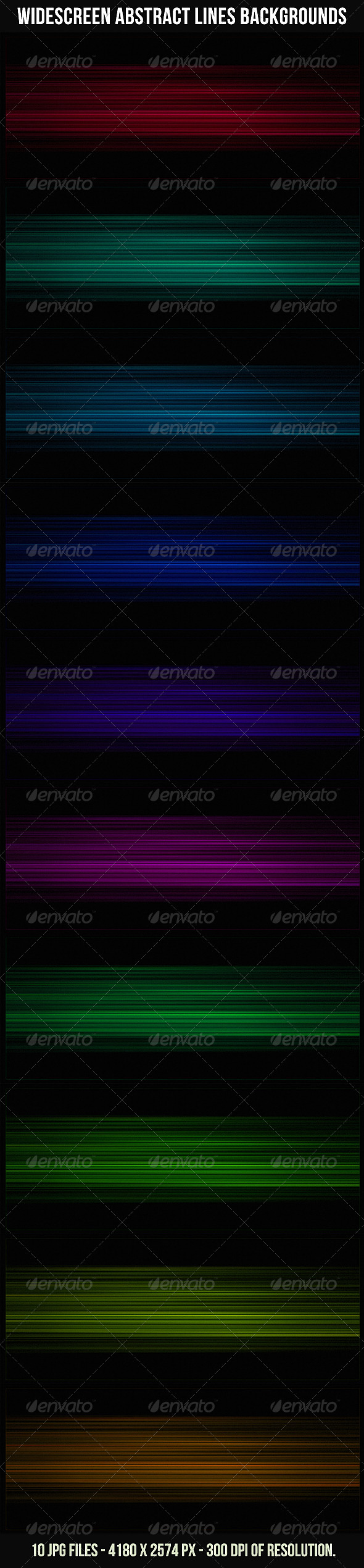 GraphicRiver Widescreen Abstract Lines Backgrounds 4083208