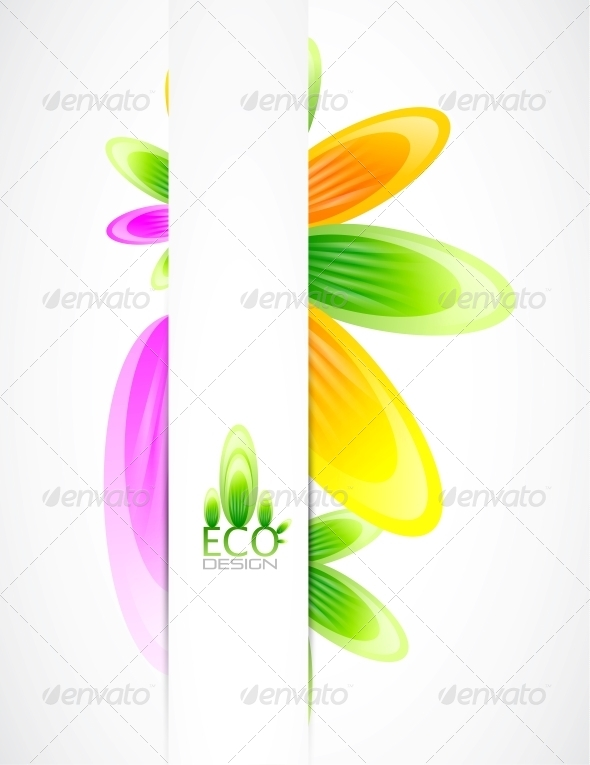 GraphicRiver Abstract Flowers Vector Background 4083326