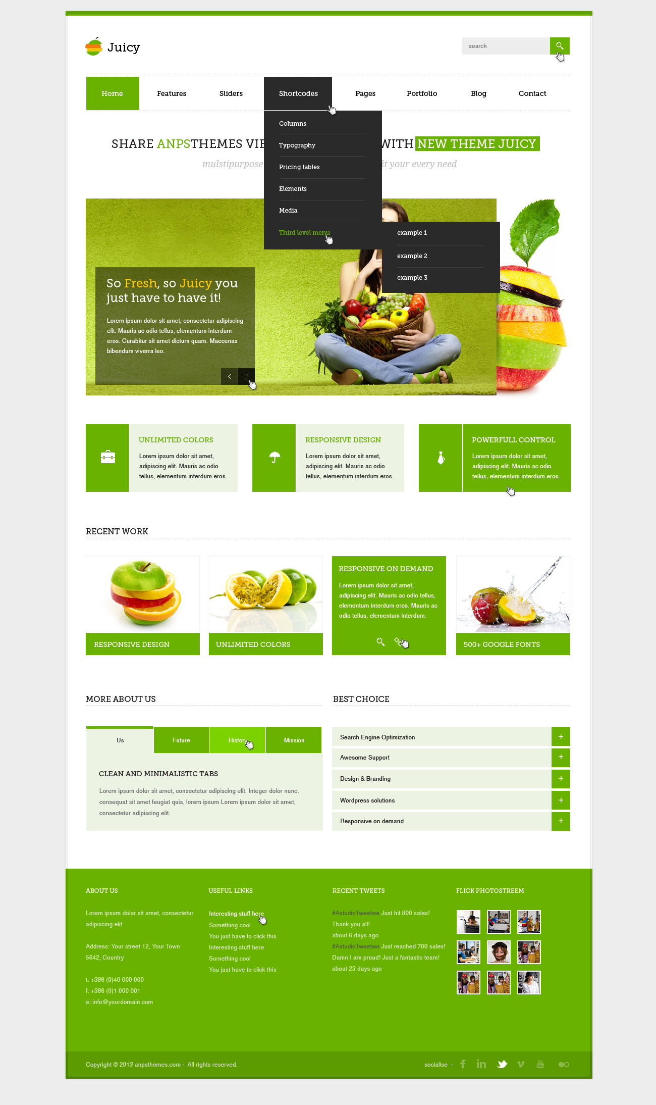 Juicy - Multipurpose PSD Template