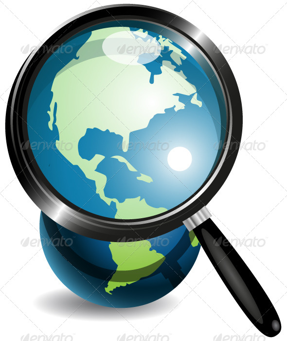 GraphicRiver Globe Under Magnifying Glass 4083401