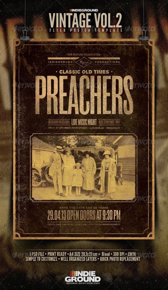 GraphicRiver Vintage Flyer Poster Vol 2 4083435