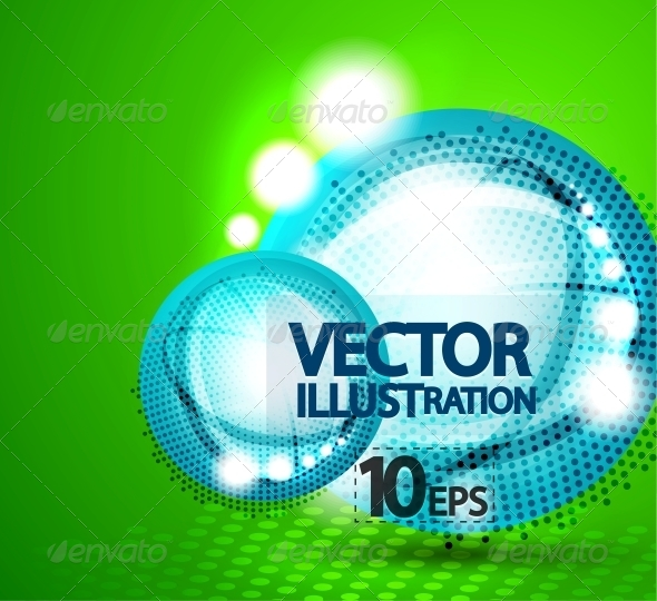 GraphicRiver Shiny Bubble Background 4083465