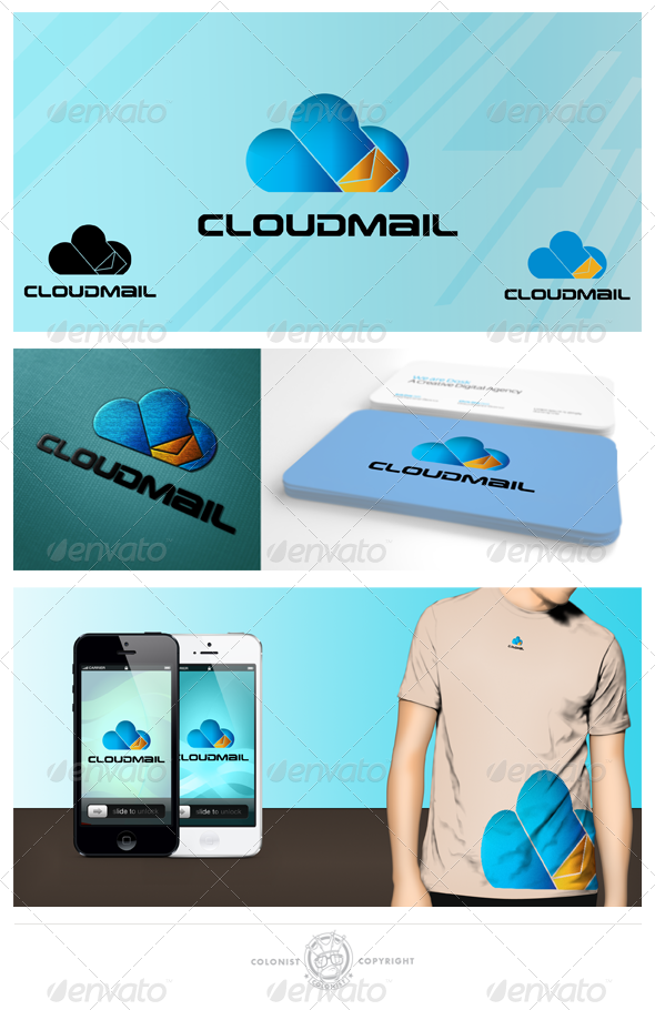 GraphicRiver Cloudmail Logo 4021658